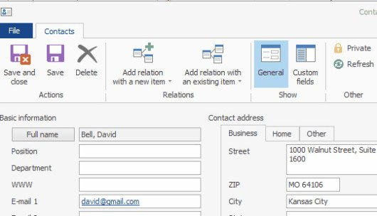 Other Interesting Outlook CRM Features