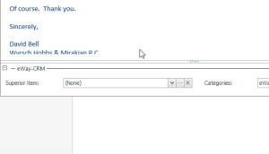 Save E-mail to CRM for Microsoft Outlook