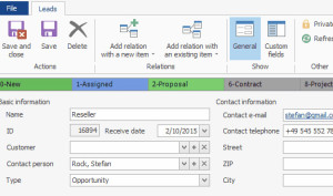 Leads reseller in CRM for Microsoft Outlook