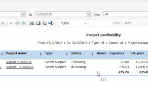 Project detail in CRM for Microsoft Outlook