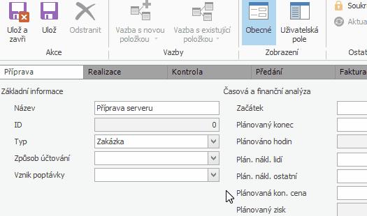 Workflow pro automatizaci zakázek