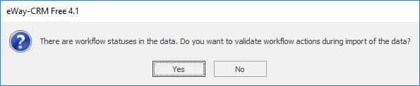 Confirm Data Import