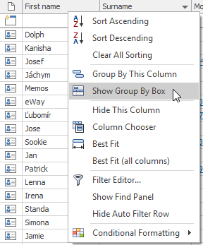 Outlook CRM Show Group by Box