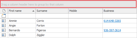 Outlook CRM Group by Area
