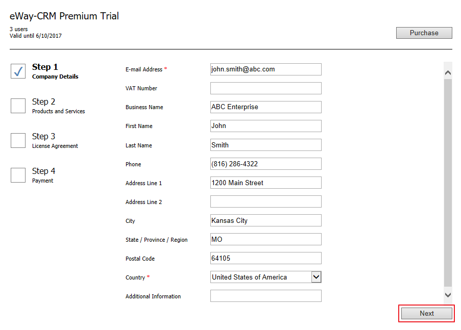 Purchase Form