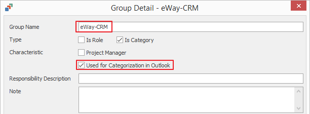 Used for Categorization in Outlook