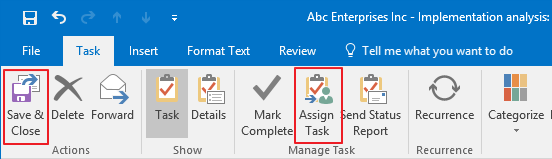 Save or Assign Task