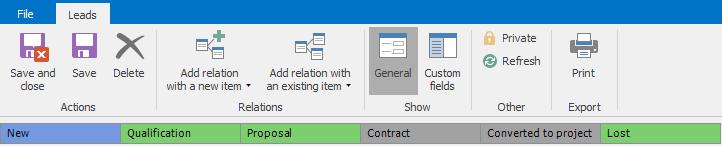 eWay-CRM Workflow