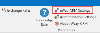 eWay-CRM Settings