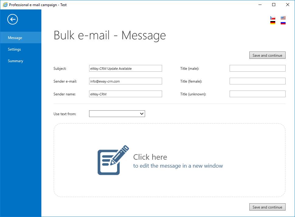 eWay-CRM Bulk Email