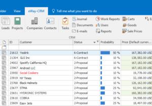 eWay-CRM Conditional Formatting