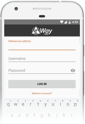 Log into eWay-CRM Mobile
