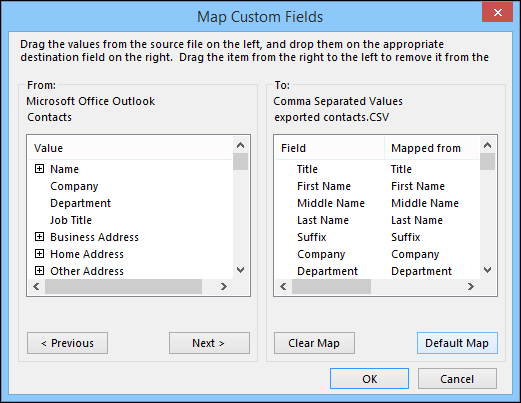 CRM Field Mapping