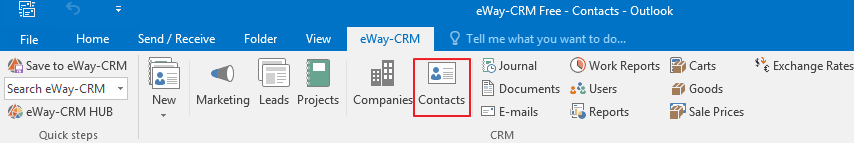 Click Contacts icon
