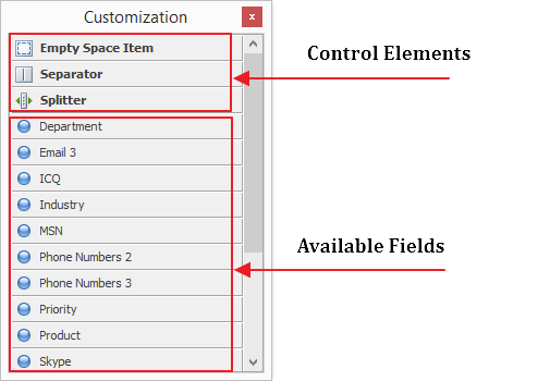 Form Elements and fields
