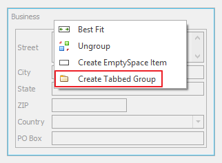 Create Tabbed Group Button