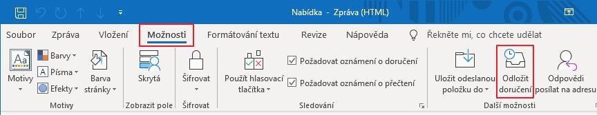 Odložit doručení e-mailu