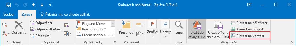 Převést e-mail na kontakt z dialog