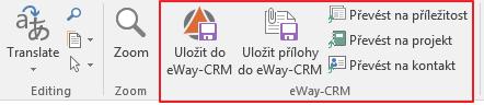Převést do eWay-CRM v dialogu