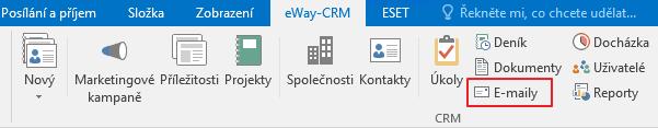 E-maily v pásu karet eWay-CRM
