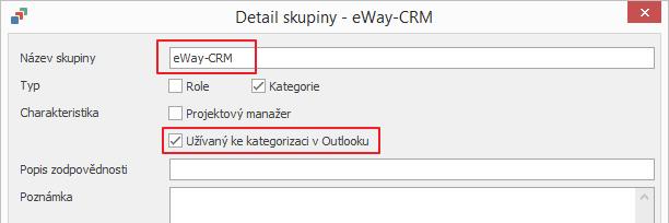 Použít pro Kategorizaci v aplikaci Outlook