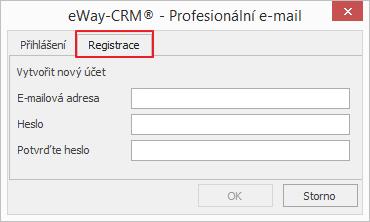 Registrace Profesionálního e-mailu