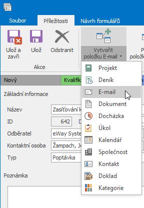 Vytvořit e-mail