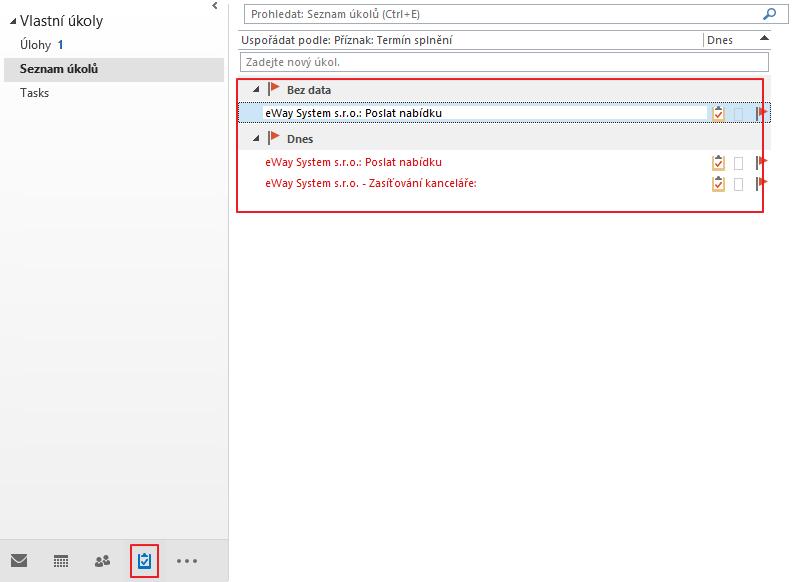 Úkoly v Outlooku