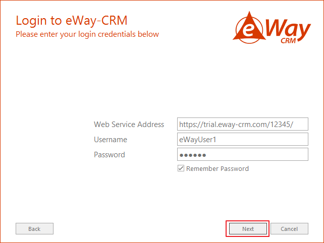 Login to eWay-CRM