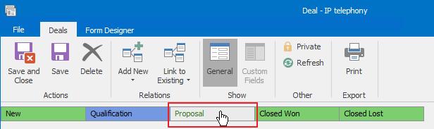 Proposal Status
