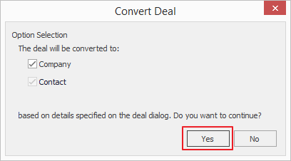 Convert Deal Window 2