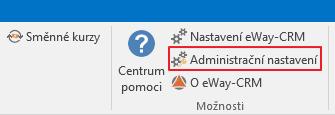 Administrační nastavení eWay-CRM