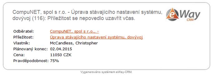 Notifikační e-mail