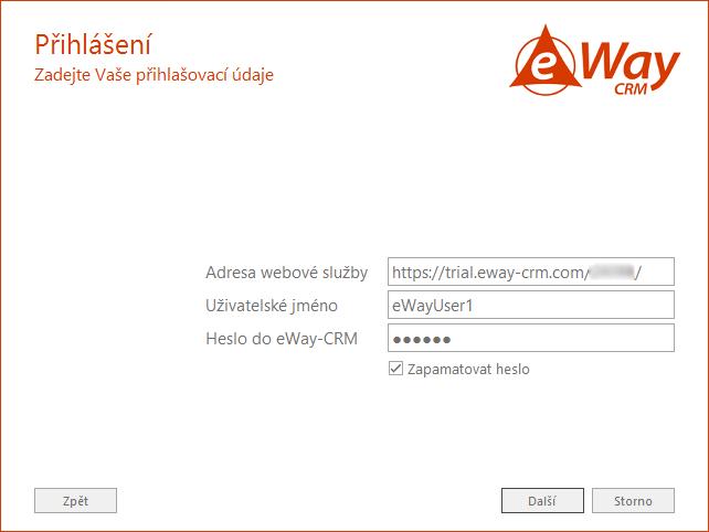 Přihlášení k eWay-CRM účtu