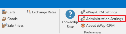Administration Settings in eWay-CRM