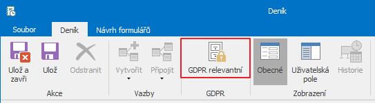 GDPR relevantní