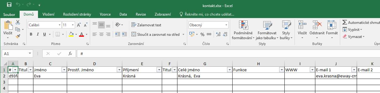 Excelový soubor
