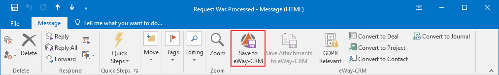 Save to eWay-CRM
