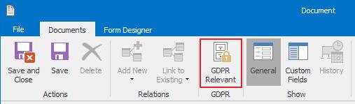 GDPR Relevant