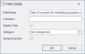 Custom Field Dialog
