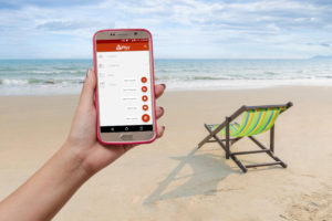 eWay-CRM Mobile on the Beach