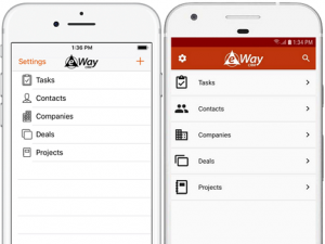 eWay-CRM Mobile Main Menu