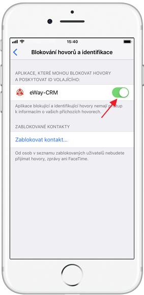 Zapnout identifikaci pro eWay-CRM