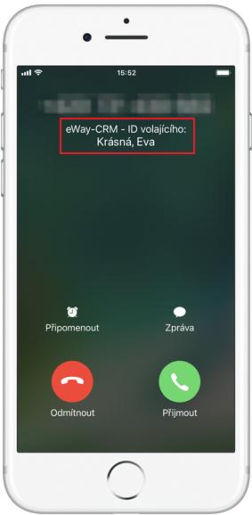 Rozpoznání volajícího z eWay-CRM