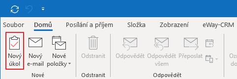 Nový úkol v Outlooku