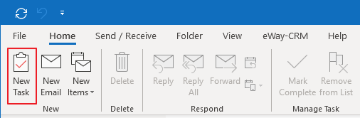 New Task in Outlook