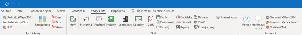 Náhled nových ikonek eWay-CRM verze 5.5.