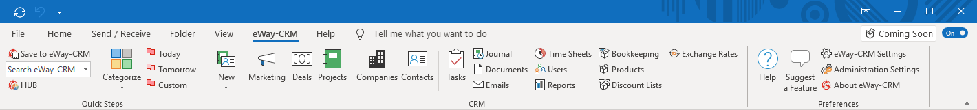 How eWay-CRM Reflects the New Microsoft Office Style | Icons