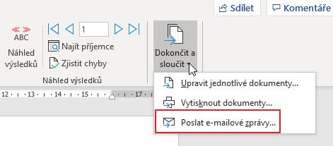 Poslat e-mailové zprávy