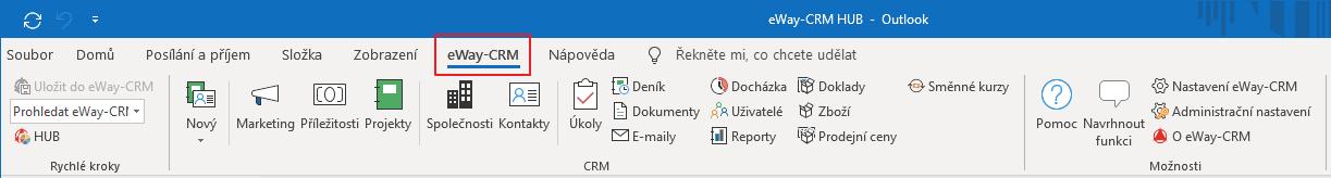 Záložka eWay-CRM
